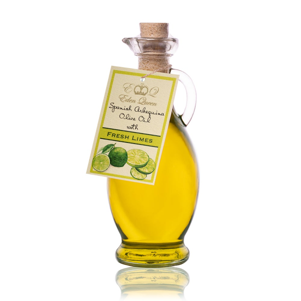 Image of Spanish Arbequina Olives Pressed with Fresh Limes (250ml)
