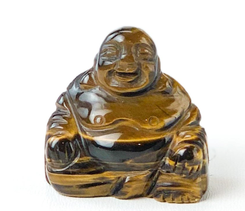 Image of Happy Buddha Tiger's Eye Crystal *WILL BE DISCONTINUED ON THIS SITE*