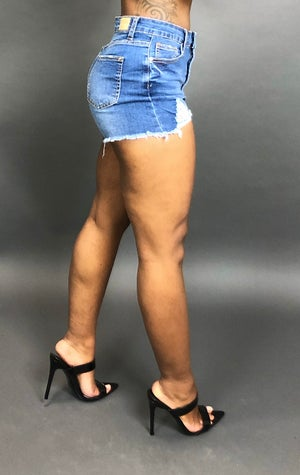 Image of Perfect Fit Denim Shorts