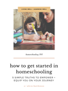 New Homeschooler's Getting Started Pack