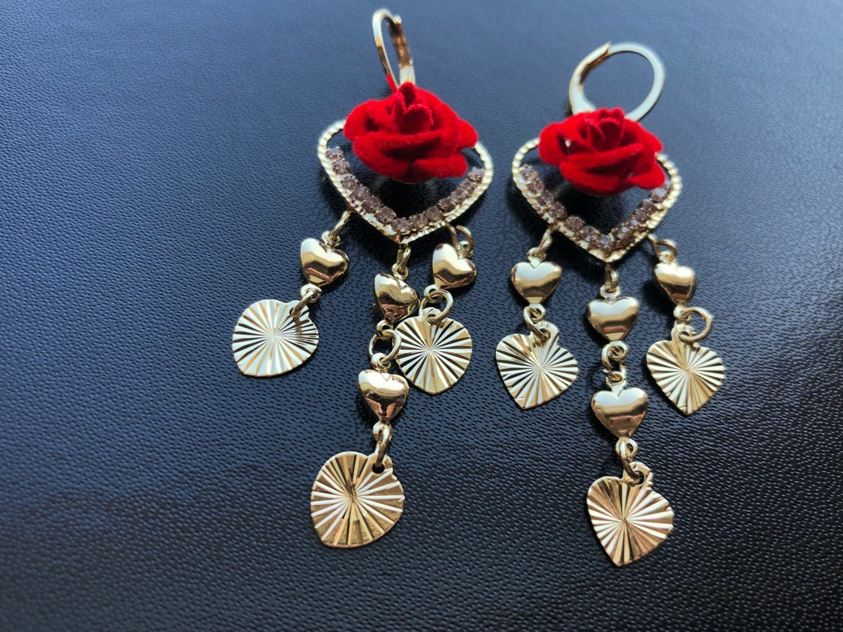 Image of Red/Rositas Earrings