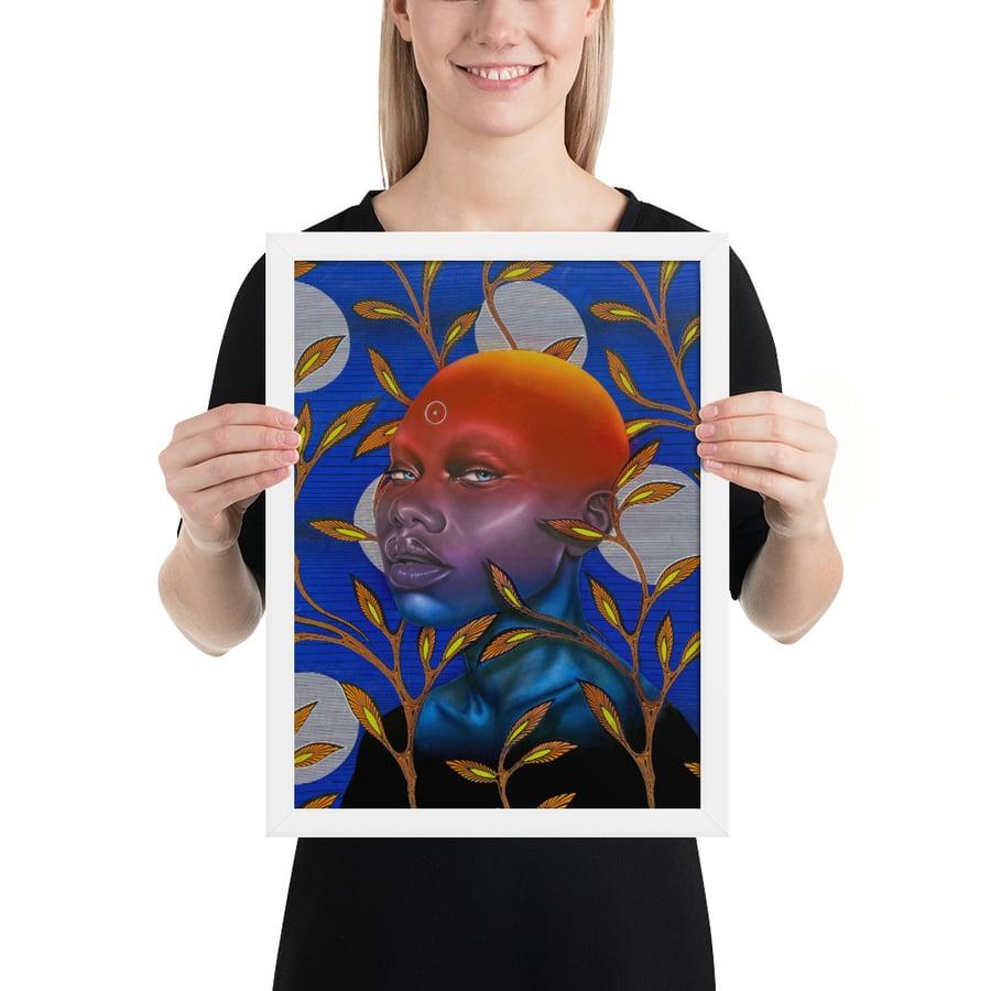 Image of Gold Sun Rising Frame Art Print