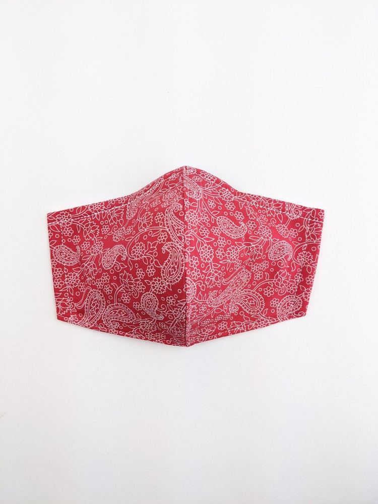 Mask* Red Paisley