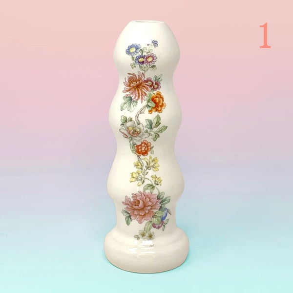 Image of Floral Butt Plug Vase - Medium