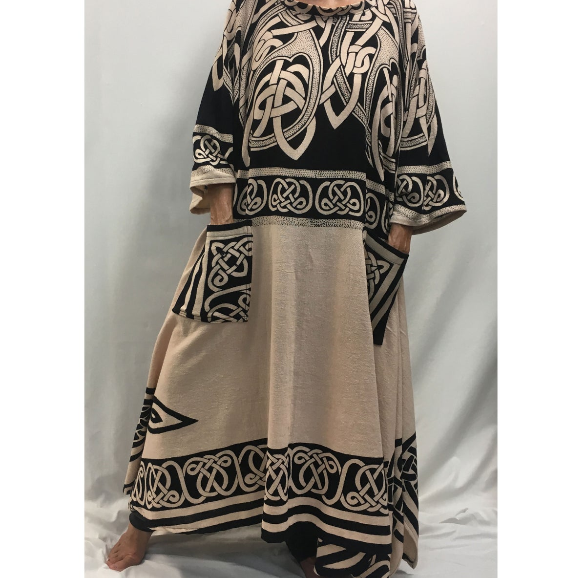 Image of Handwoven Cotton  Dress/Caftan
