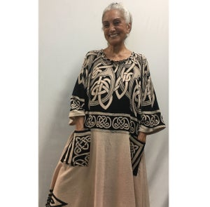 Image of Long  Dress/Caftan - One Size - Celtic/Ethnic Design  - Great for Lounging