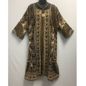 Image of Hand Block Printed Dress/Caftan with Paisleys