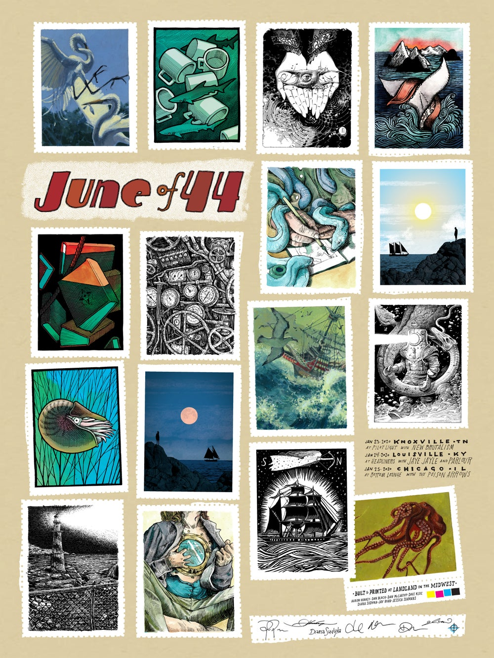 """June of 44 (2020 Midwest Dates) • L.E. Official Poster (18"""" x 24"""")"""