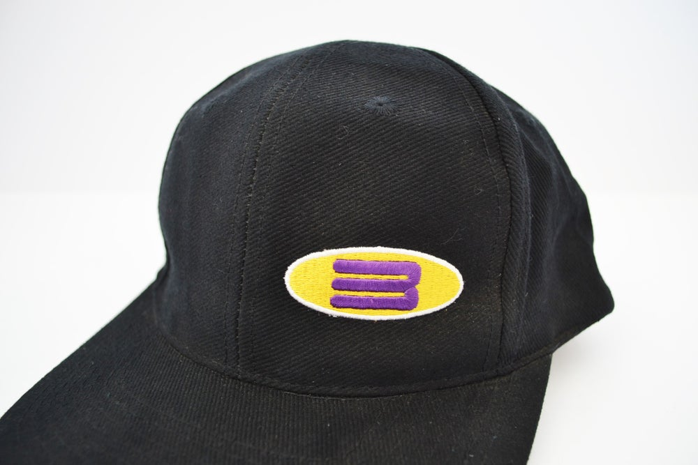 Image of Vintage 1990's Adidas 3 Stripes Embroidered Black Strapback