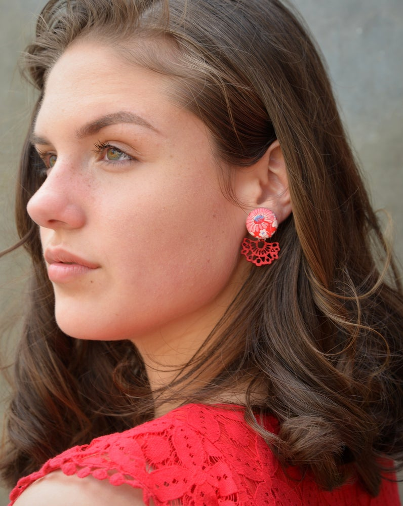 Image of Earrings - Lace Drops (3 Colours)