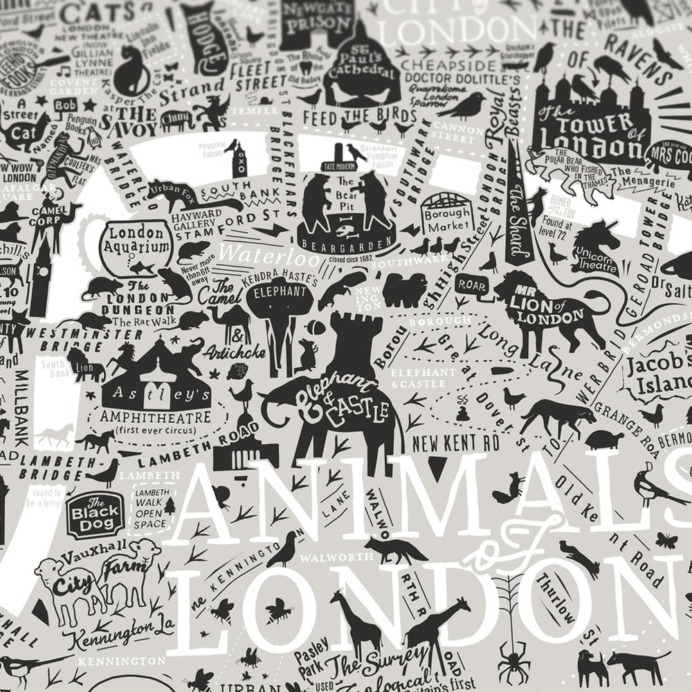 Animals Of London (Neutral Colours)