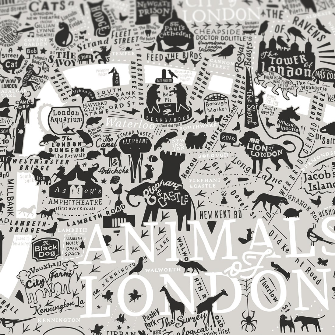 Image of Animals Of London (Neutral Colours)