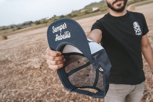 Image of Semper Rebellis Trucker blue