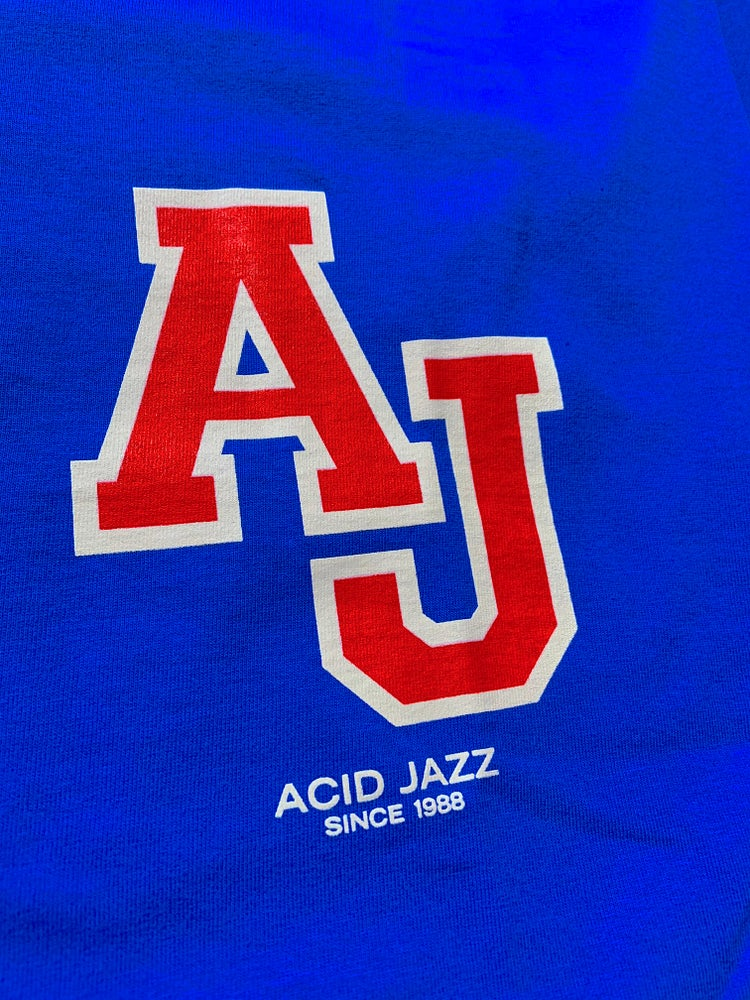 Image of Acid Jazz Blue 'AJ' T-shirt