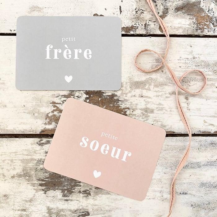 Image of Carte Postale PETIT FRÈRE ou PETITE SOEUR