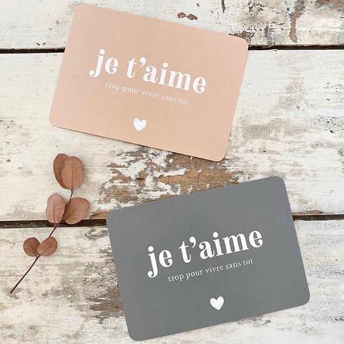 Image of Carte Postale JE T'AIME TROP POUR VIVRE SANS TOI