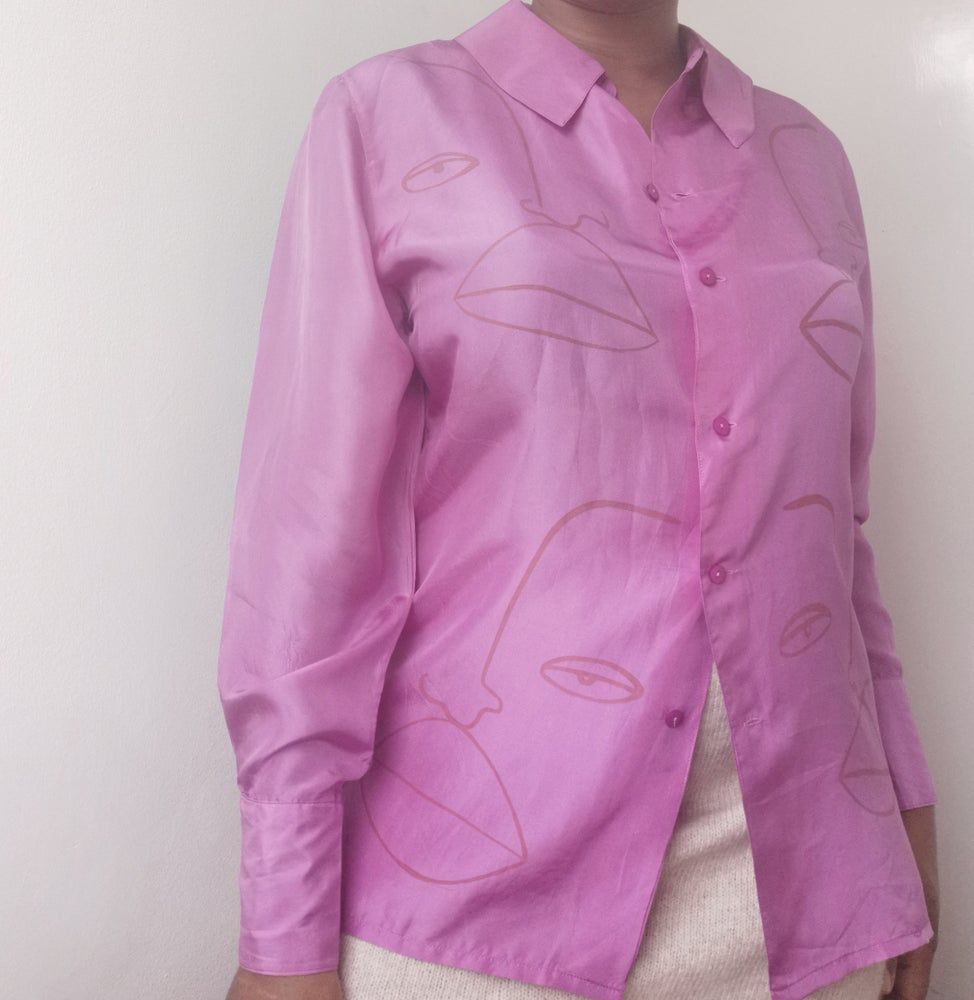 Image of waterfall blouse