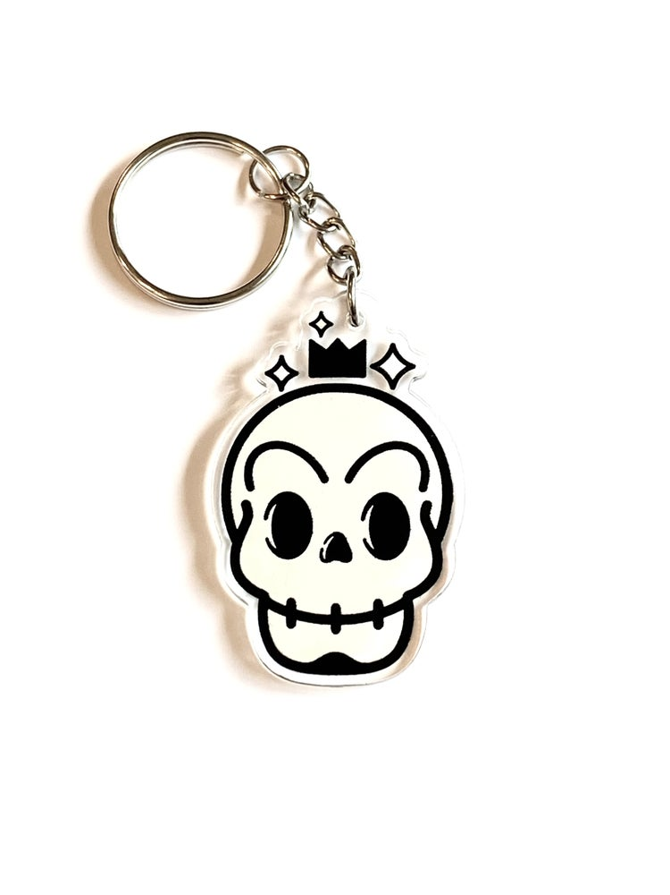 Image of Skull acrylic keychain