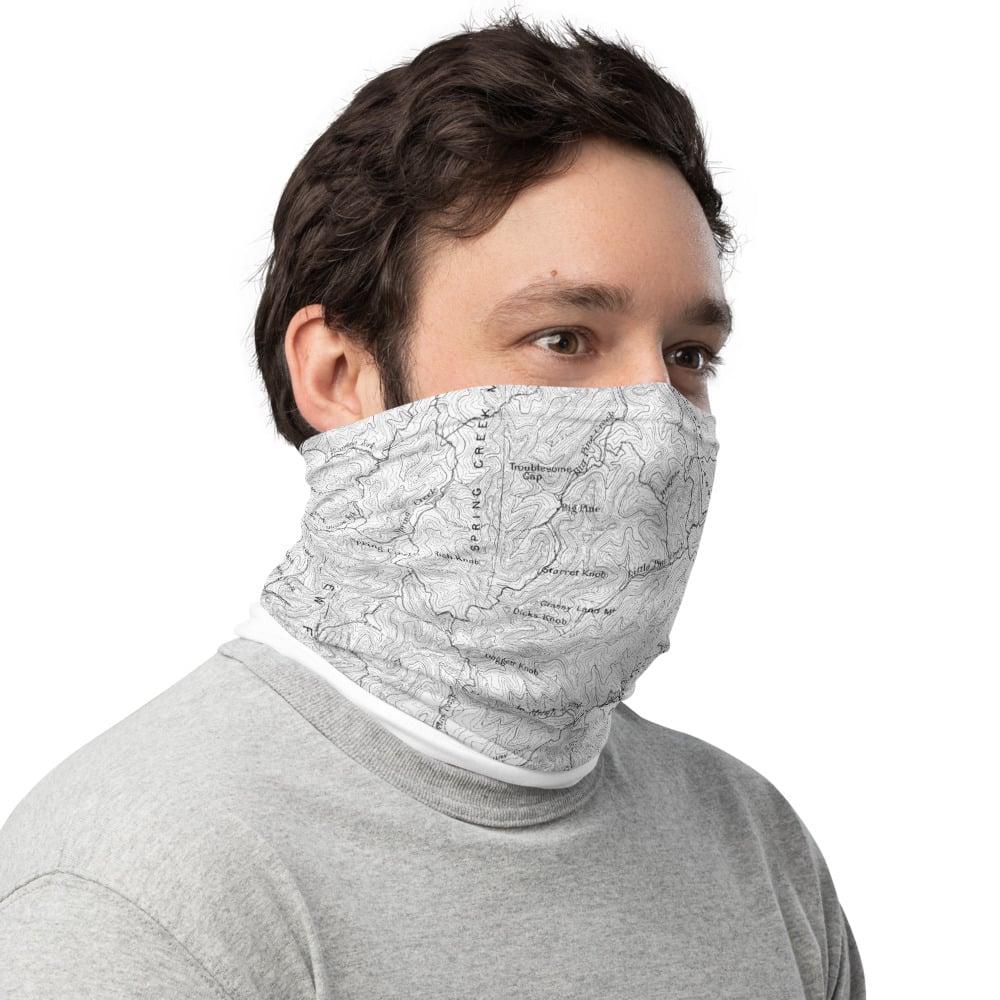 #Asheville Topo Map Neck Gaiter /Face Mask