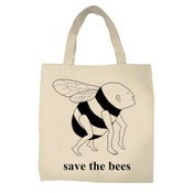 Image of Save the Bees- tote bag