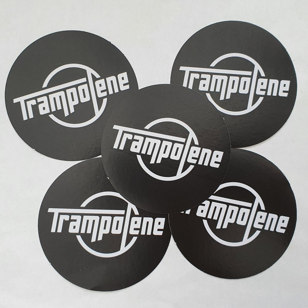 Image of TRAMPOLENE logo sticker pack of five