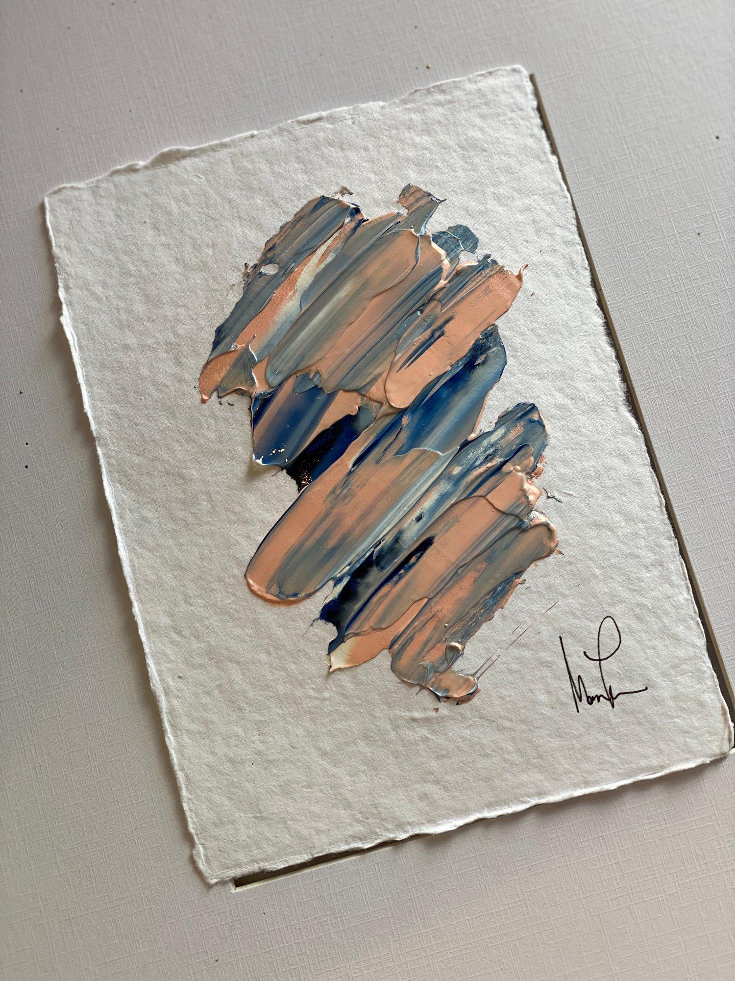 Image of Pink Handmade Paper Cotton Rag Paper Series 1