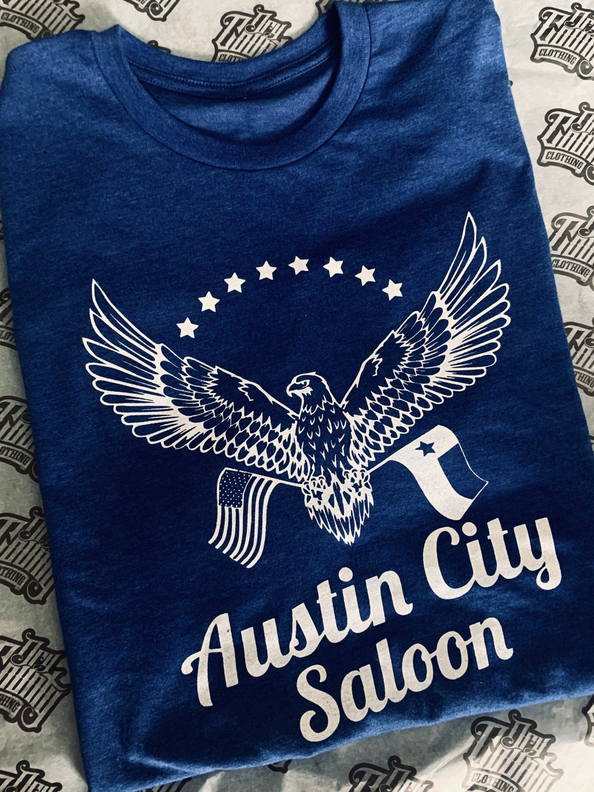 Image of Austin City Eagle Shirt (Blue)