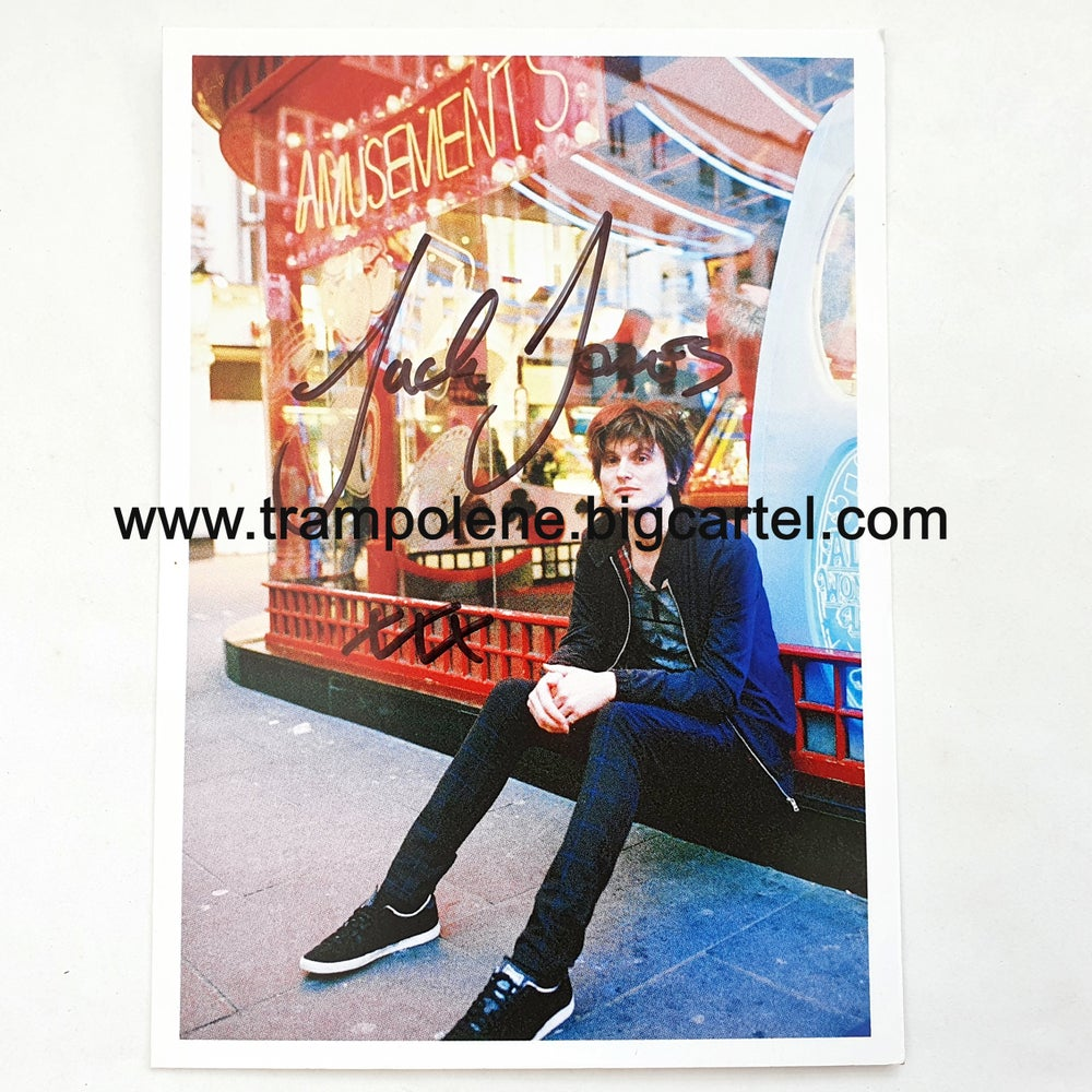 Image of Jack Jones - TRAMPOLENE - hand signed postcard