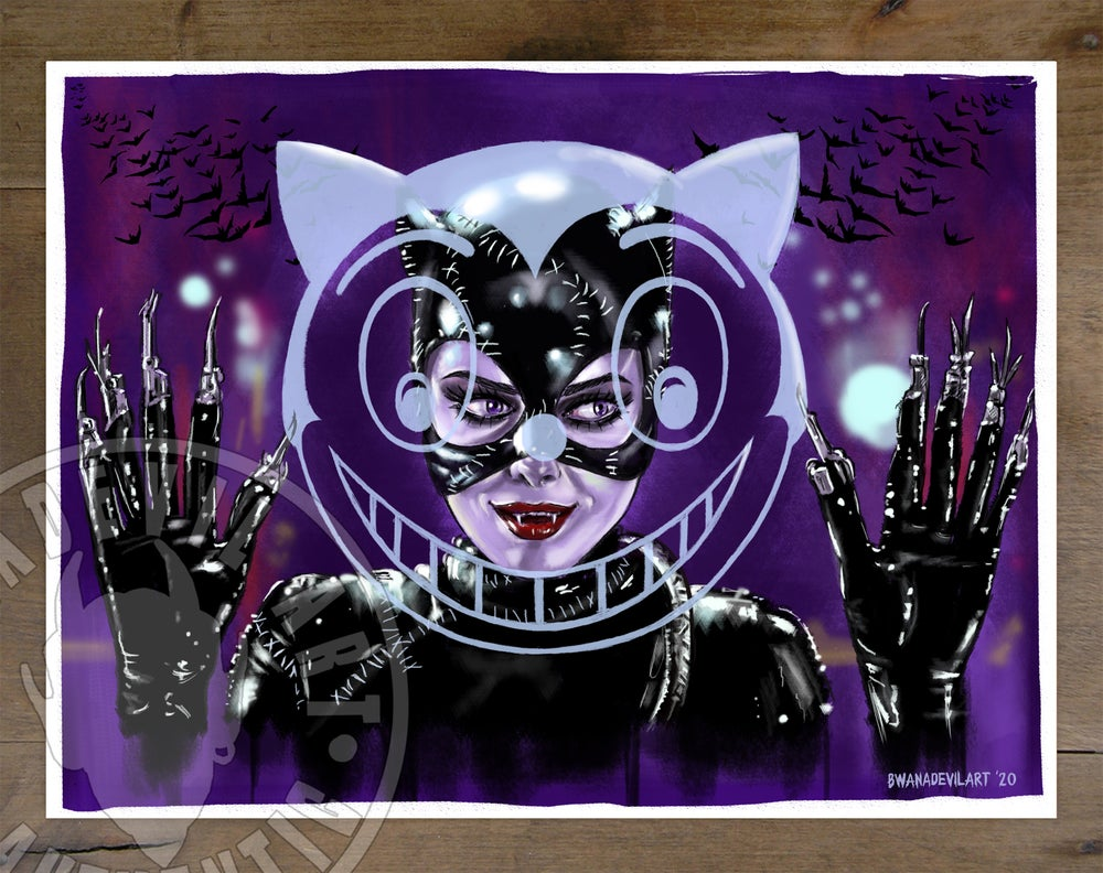Image of Catwoman Michelle Art Print 9 x 12 in.