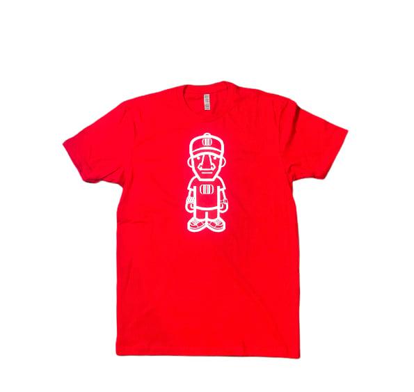 Red/Glow Character Logo Tee