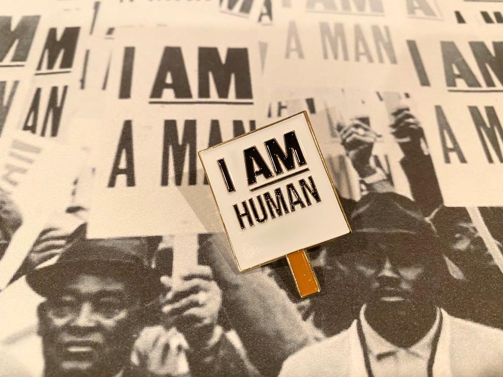 Image of I am Human pin