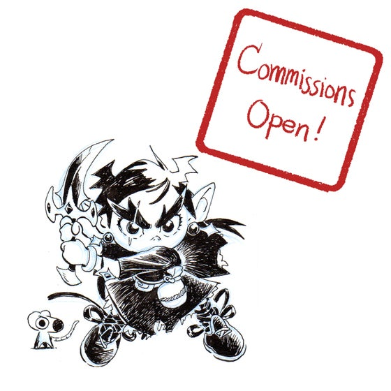 """Image of Ink Drawing Commission 3""""x3"""" (limited availability)"""