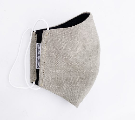 Image of 100% Linen Fitted Face Mask