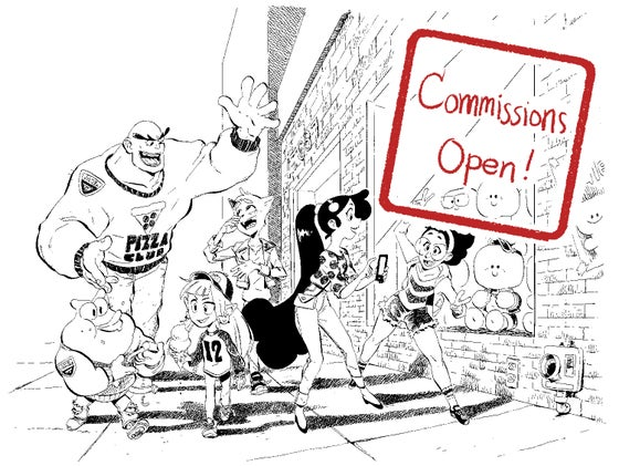 """Image of Ink Drawing Commission 11""""x14"""" (limited availability)"""