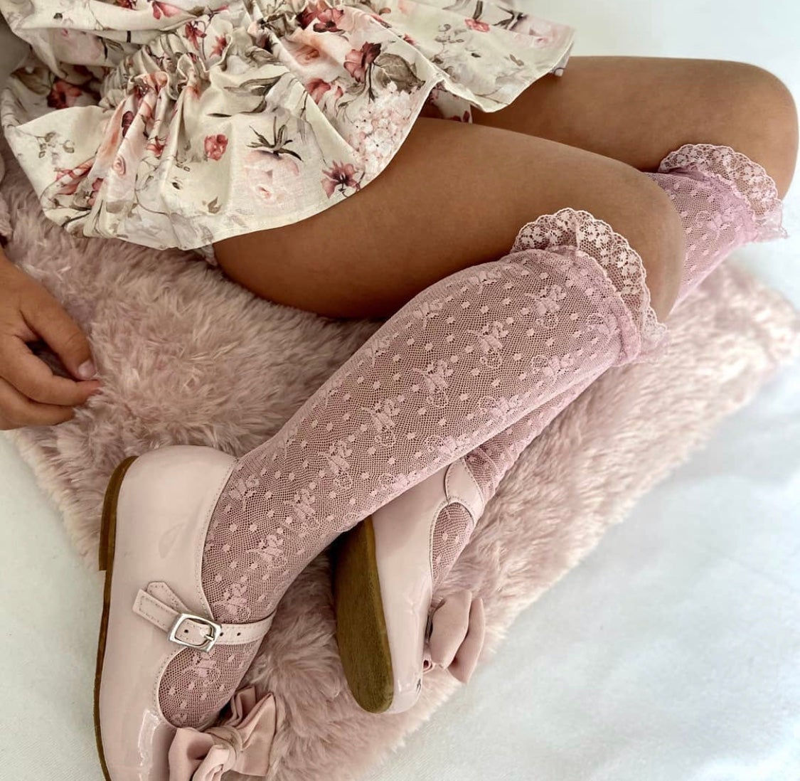 Image of Condor Ceremony lace socks