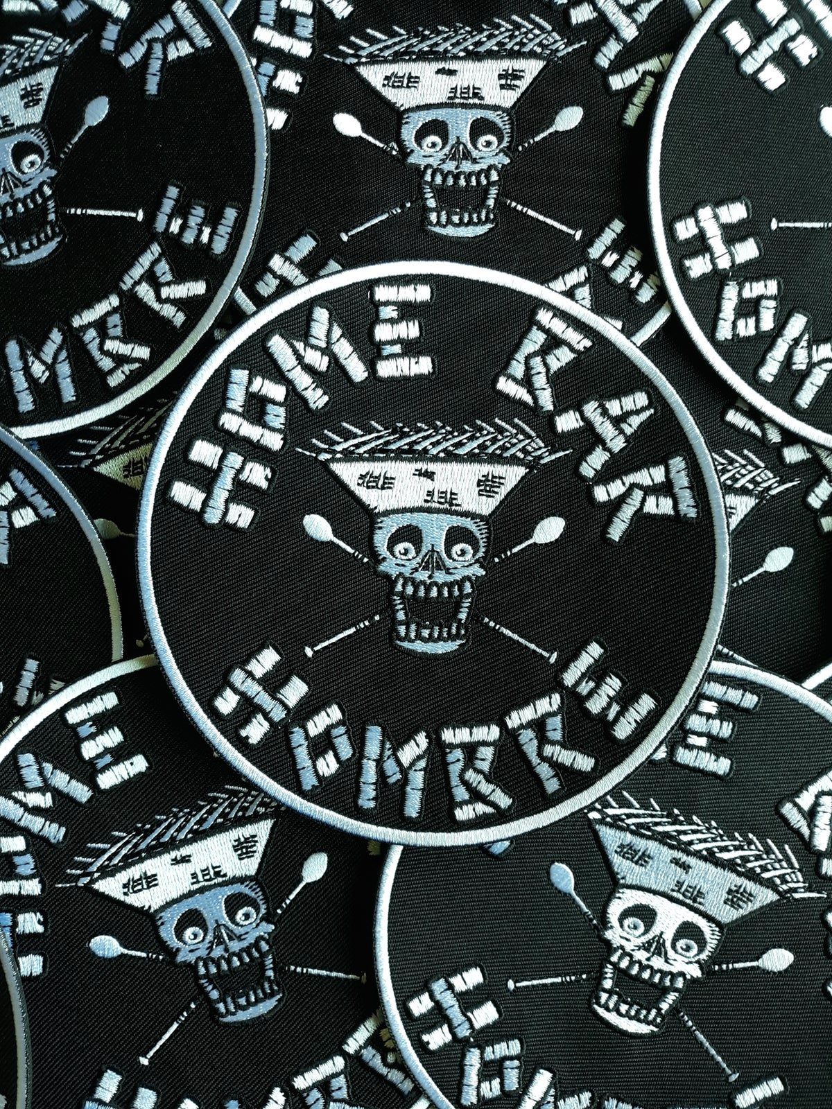 """HOME BAR HOMBRE 5"""" Embroidered Iron/Sew-On Biker Style Patch"""