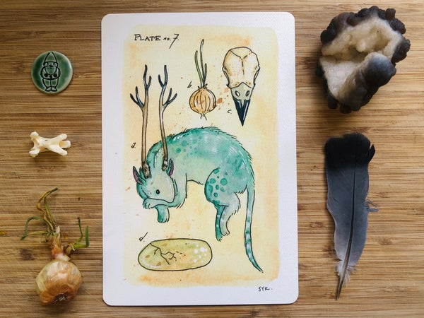 Image of Antlered Bunmous Print