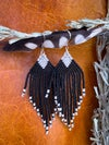 """Magpie"" Beaded Fringe Earrings"