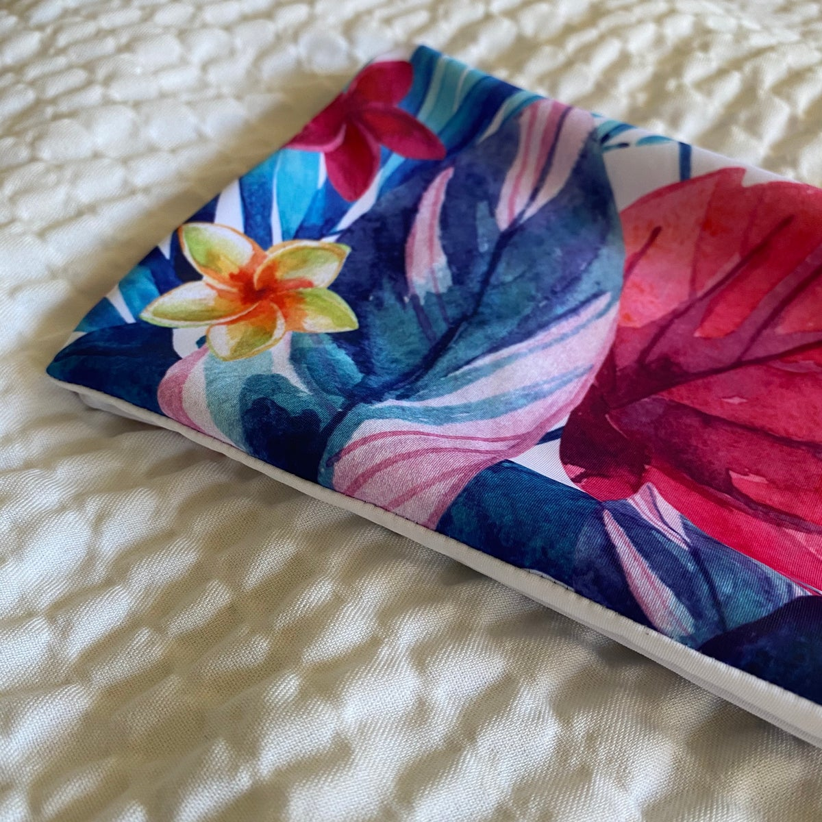 Image of SAMPLE BANDEAU : WATER COLOR TROPICS X WHITE