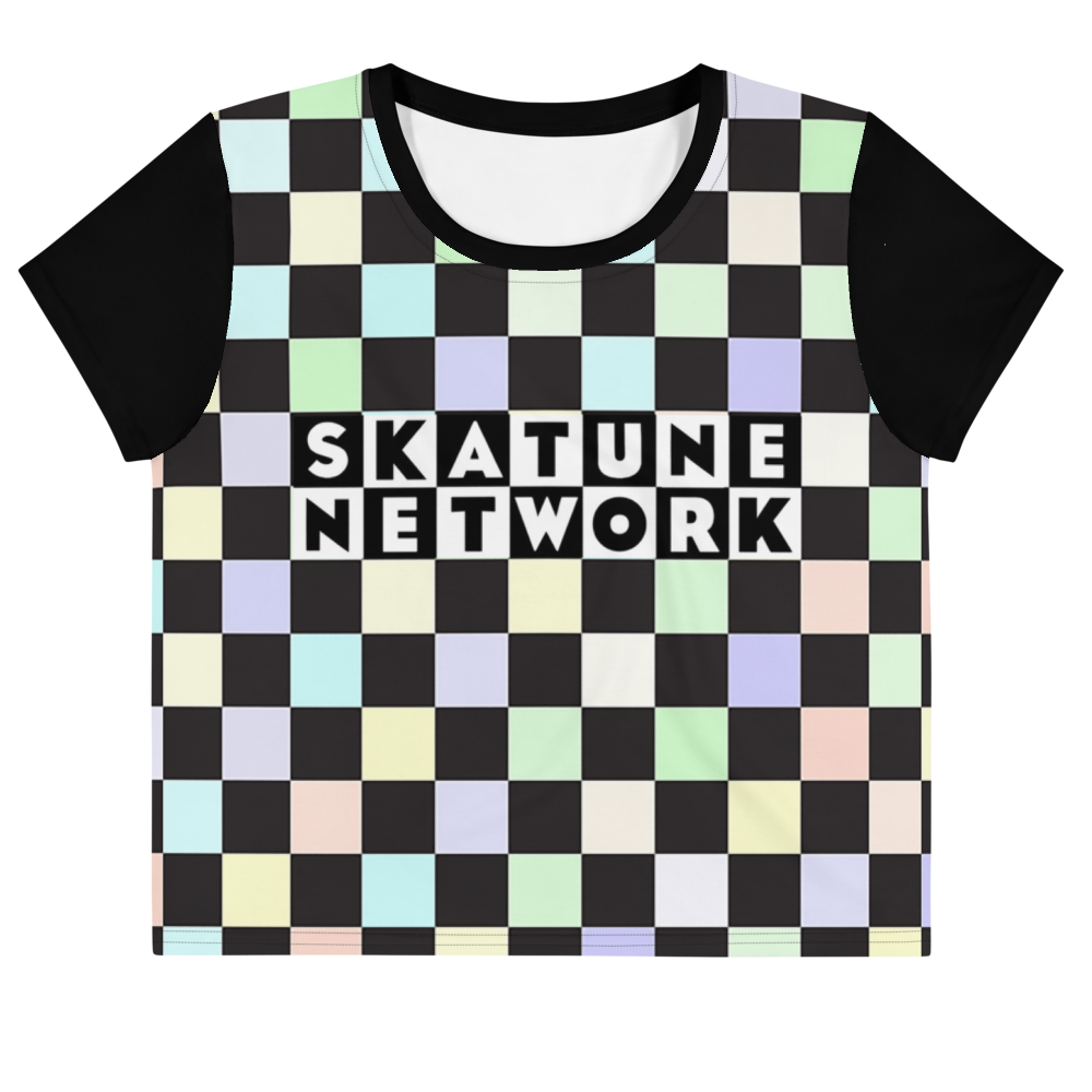 Image of All-Over Print Crop Tee (XS- 3XL)