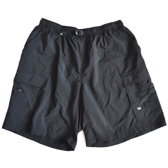 Image of Vintage 1990's Nike ACG Black Cargo Hiking Shorts Sz.XXL