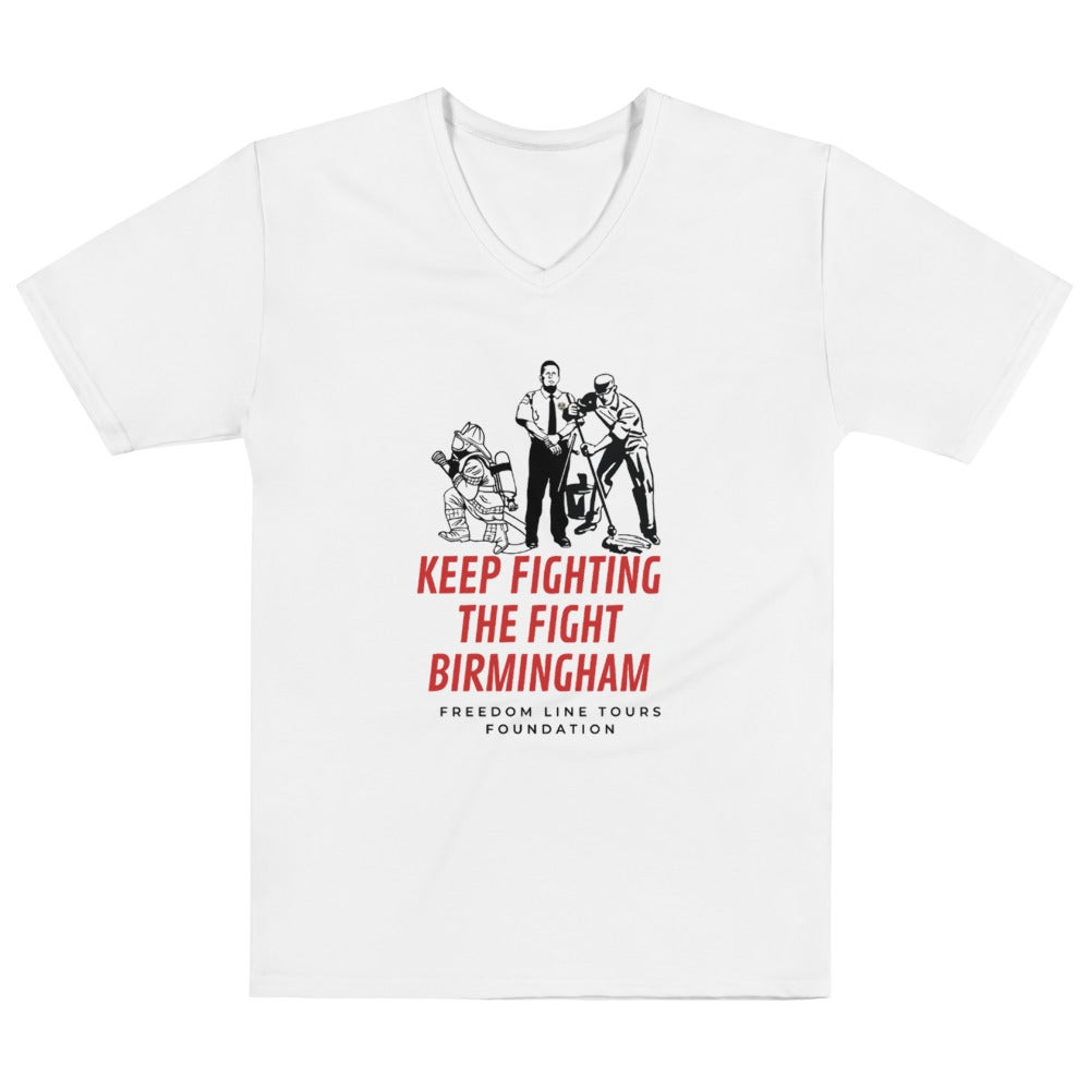 Image of Keep Fighting The Fight Birmingham V-Neck T-shirt