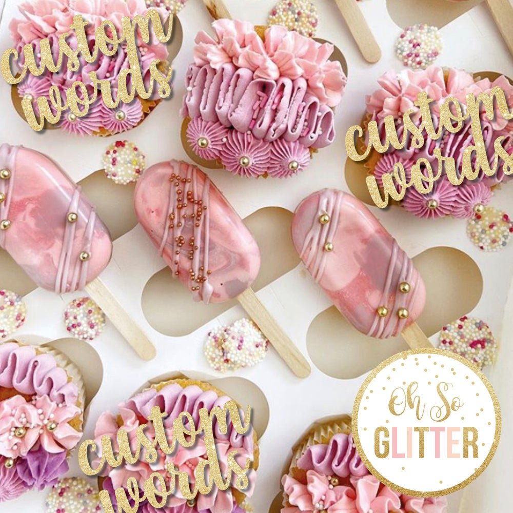 Image of Customised cupcake toppers - no sticks