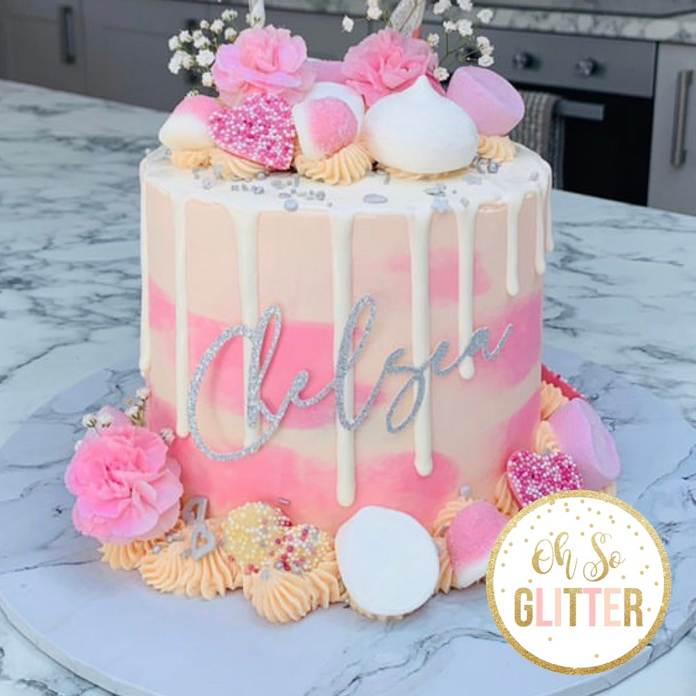 Image of Name Charm Cake Topper - no stick