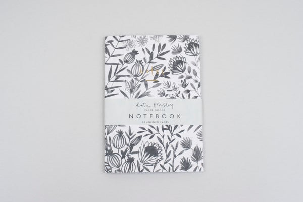 Image of Grey Floral Notebook