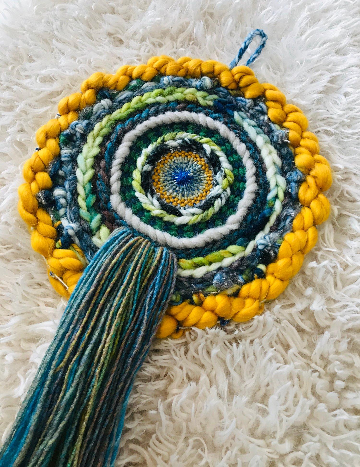 Image of Green Rolling Hills Circular Weaving