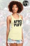 Yellow (Banana Cream) AFRO PUFF Racerback Tank Top