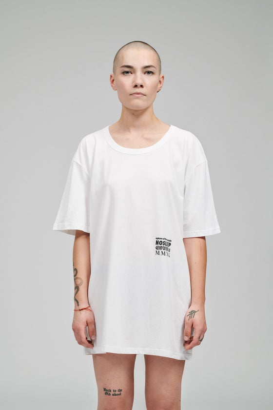 Image of OPIUM OF THE PEOPLE. NOSLEEP. COVID19. MMXX WHITE T-SHIRT (LIMITED EDITION)