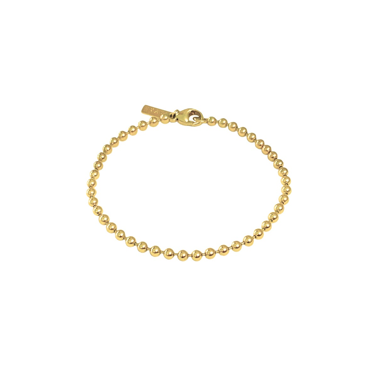 Image of Gold ball chain bracelet