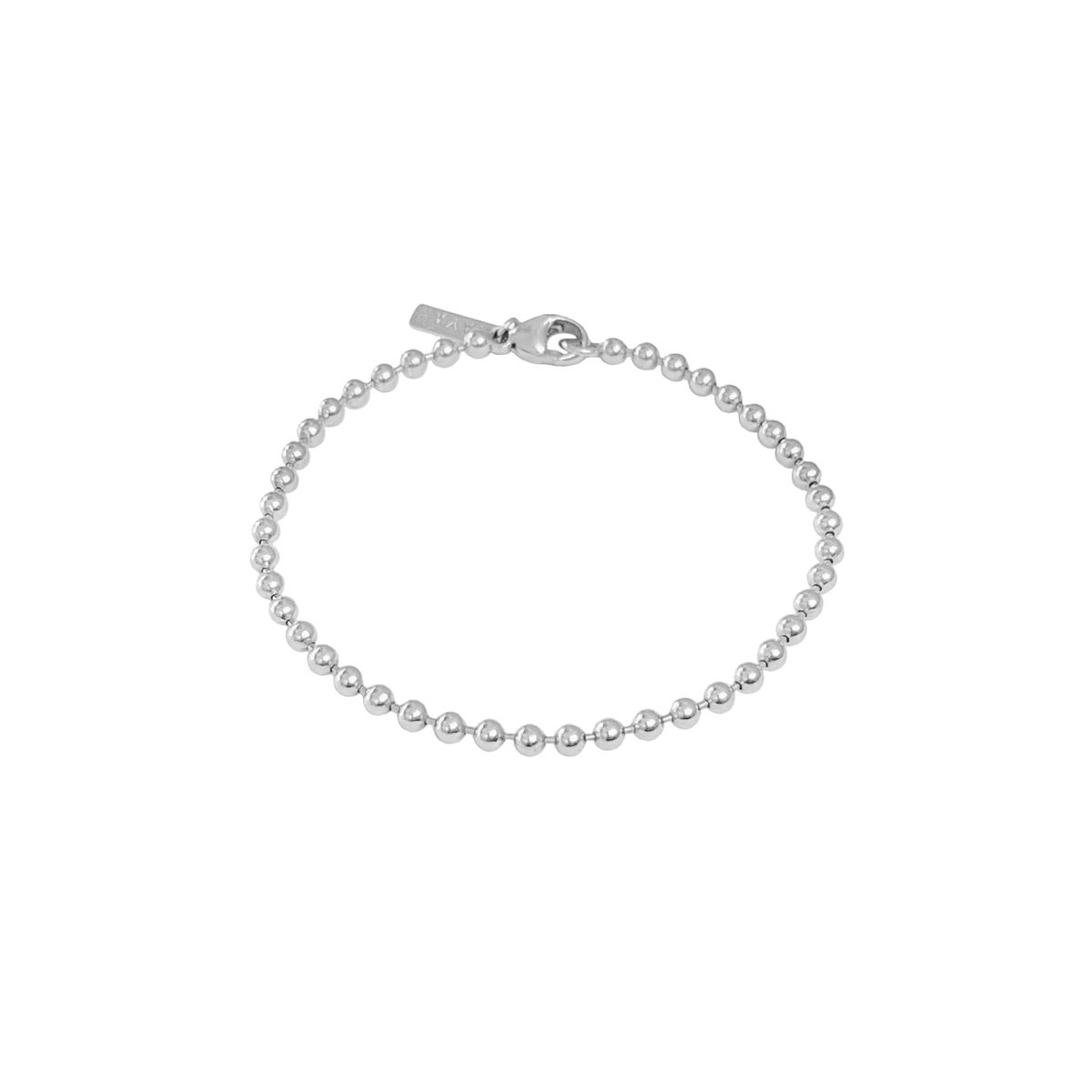 Image of Silver ball chain bracelet